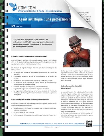 Agent artistique : une profession réglementée