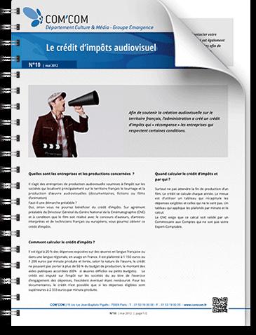 Le crédit d'impôt audiovisuel