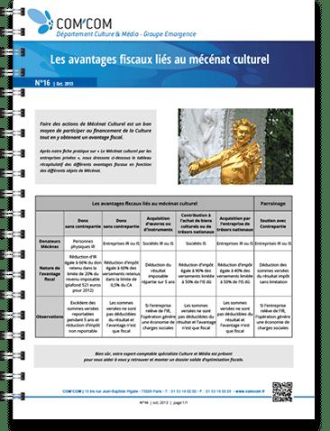 Les avantages fiscaux liés au mécénat culturel