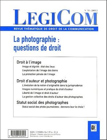 La Photographie: Questions de droit