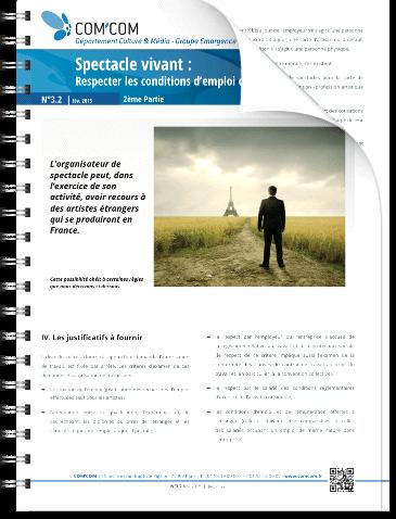 Spectacle vivant : respecter les conditions d'emploi des étrangers en France (2ème partie)