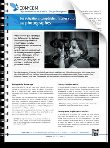 Les obligations comptables, fiscales et sociales des photographes