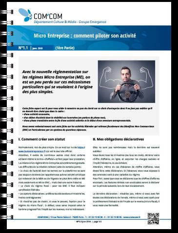 Micro Entreprise : comment piloter son activité (première partie)