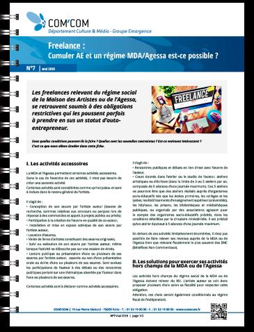 Freelance : cumuler AE et un régime MDA/Agessa est-ce possible ?